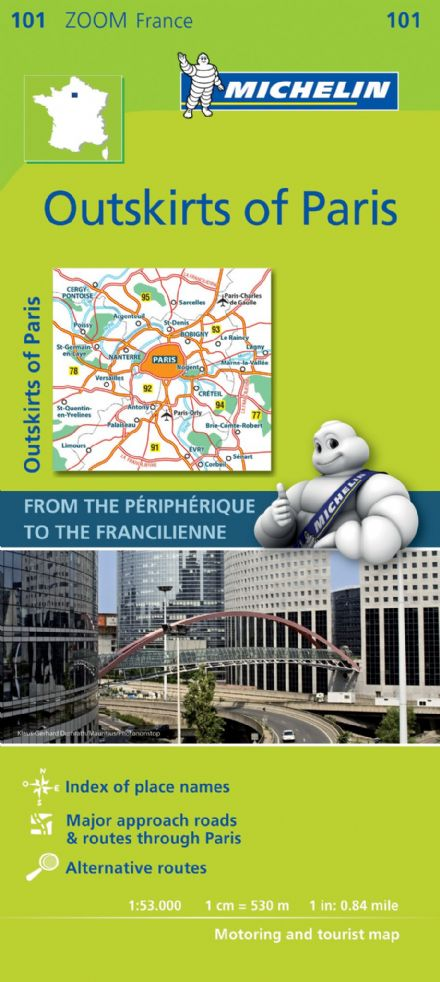 Michelin Map 101 Outskirts of Paris